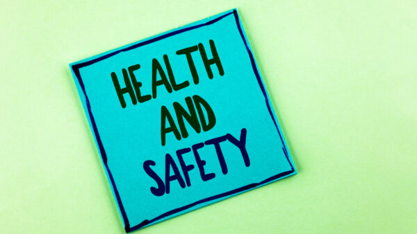 Health and safety post-it note.