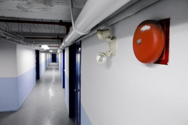 Fire Alarm Bell In School