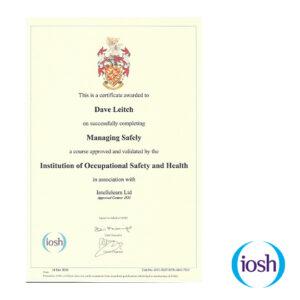 Intellelearn IOSH Certificate
